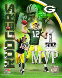 Aaron Rodgers Super Bowl XLV MVP Portrait Plus Photo