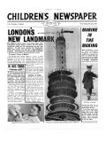 London's New Landmark: the Post Office Tower, Front Page of 'The Children's Newspaper', April 1963 Giclee Print by English School