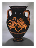 Attic Red-Figure Belly Amphora Depicting the Abduction of Antiope with Theseus and Pirithous Giclee Print by Myson 
