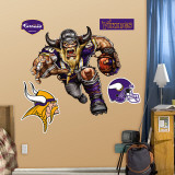 "Minnesota Vikings ""Vicious Viking"" Wall Decal"