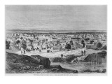 View of Kano, Nigeria, from 'Travels and Discoveries in North and Central Africa' by Heinrich Barth Giclee Print by Dieudonne Auguste Lancelot