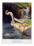The Beautiful Narcissus, Caricature Engraved by D'Aubert and Co. and Published by Bauger in Paris Reproduction procédé giclée par Honore Daumier