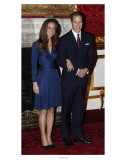 Prince William and Kate Middleton, Announcing their Engagement and Forthcoming Royal Wedding.  Art