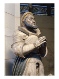 Lifesize Alabaster Statue of the Elector Frederick the Wise, at the Castle Church, Wittenberg Giclee Print by  German School