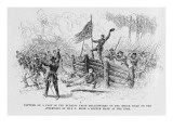 Capture of a Part of the Burning Union Breastworks on the Brock Road on the Afternoon of May 6Th Reproduction proc&#233;d&#233; gicl&#233;e par Alfred Rudolf Waud
