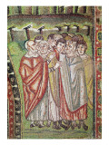 The Hebrew People, Detail of the Hospitality of Abraham and the Sacrifice of Isaac, 6th Century Giclee Print by  Byzantine School