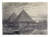 The Pyramids of Giza, from a Series of the 'seven Wonders of the World', 1886 Giclee Print by Ferdinand Knab