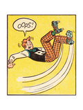 Archie Comics Retro: Archie Comic Panel; Rollerskating Oops! (Aged) Posters