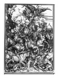 The Four Horsemen of the Apocalypse, from the Apocalypse or the Revelation of St. John, C.1497-98 Giclee Print by Albrecht Dürer
