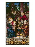 Adoration of the Magi, a Stained Glass Window Originally the Gift of Pope Leo X Giclee Print