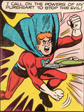 Archie Comics Retro: Pureheart The Powerful Comic Panel; Stop this Evil! (Aged) Art