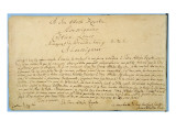 Handwritten Dedication of &#39;Brandenburger Concertos&#39; to Christian Ludwig, Margrave of Brandenburg Giclee Print by Johann Sebastian Bach