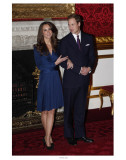 Prince William and Kate Middleton, Announcing their Engagement and Forthcoming Royal Wedding.  Prints