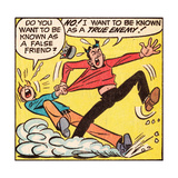 Archie Comics Retro: Archie and Jughead Comic Panel; False Friend (Aged) Taide