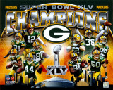 Green Bay Packers Super Bowl XLV Champions Composite (Horizontal) Photo