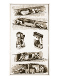 Child and Woman Labour in the Coal Mines Prior to 1843, Drawn from Contemporary Prints Giclee Print by  English School
