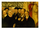 Epitaph of Meienburg's Mayor Showing the Reformers' Group with Martin Luther, Philipp Menanchton Giclee Print by Lucas Cranach the Younger