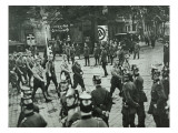 Regular Army and Prussian Police Observing an Sa Demonstration in Neukoelln, Berlin Giclee Print by  German photographer