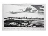 The Prospect of the Town of Glasgow from Ye South, from 'Theatrum Scotiae' by John Slezer, 1693 Giclee Print by John Slezer