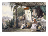Destroying the Chrysalids and Reeling the Cocoons, from 'China in a Series of Views' Giclee Print by Thomas Allom