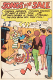 Archie Comics Retro: The Archies Comic Panel; Songs For Sale (Aged) Poster