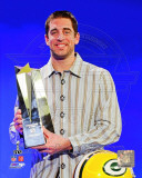 Aaron Rodgers with Super Bowl XLV MVP Trophy (23) Photo