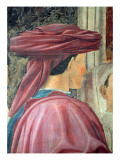 The Legend of the True Cross, the Adoration of the Wood, Detail of King Solomon Completed 1464 Giclee Print by Piero Della, Francesca