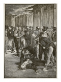 The Assassination of Spencer Perceval, Illustration from 'Cassell's Illustrated History of England' Giclee Print by Walter Paget