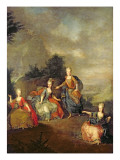 Performance of the Opera by Gluck, 'Il Parnaso Confuso' at Schoenbrunn Palace on 24th January 1765 Giclee Print by Johann Georg Weikert