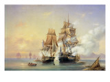The Russian Cutter Mercury Captures the Swedish Frigate Venus on 21st May 1789, 1845 Giclee Print by Aleksei Petrovich Bogolyubov
