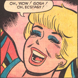 Archie Comics Retro: Betty Comic Panel; Ecstasy! (Aged) Affiches
