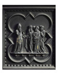 Zechariah Is Struck Dumb, Second Panel of the South Doors of the Baptistery of San Giovanni, 1336 Giclee Print by Andrea Pisano