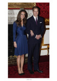 Prince William and Kate Middleton, Announcing their Engagement and Forthcoming Royal Wedding.  Giclée-tryk