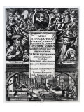 Frontispiece to 'On the Origin and History of Typography' by Bernardus Mallinckrodt, 1634 Giclee Print by  German School