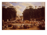 The Entry of Napoleon and Marie-Louise into the Tuileries Gardens on the Day of their Wedding Giclee Print by Etienne-barthelemy Garnier