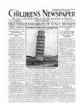 Five Thousand Miles of Italy Shaken, Front Page of 'The Children's Newspaper', September 1920 Giclee Print by English School