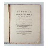 Titlepage of 'A Journal of a Voyage around the World in His Majesty's Ship Endeavour in the Years' Giclee Print by  English School