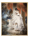 Portrait of Mrs Ayscoghe Boucherett with Her Two Eldest Children, Emilia and Ayscoghe Giclee Print by Thomas Lawrence
