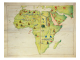 The Continent of Africa, from an Atlas of the World in 33 Maps, Venice, 1st September 1553 Reproduction proc&#233;d&#233; gicl&#233;e par Battista Agnese