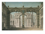 Set Design for the World Premiere Performance of 'Idomeneo', by Wolfgang Amadeus Mozart in Munich Giclee Print by Lorenzo I Quaglio