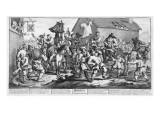 Hudibras Encounters the Skimmington, from 'Hudibras', by Samuel Butler, 1726 Premium Giclee Print by William Hogarth