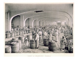 Constructing the Barrels, from 'Le France Vinicole', Pub. by Moet and Chandon, Epernay Premium Giclee Print by E.M. Choque