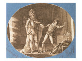Don Giovanni and the Statue of the Commandantore That Has Come to Life, Act Ii Giclee Print by  Austrian School