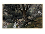 Jesus Went Out into a Desert Place, Illustration for 'The Life of Christ', C.1884-96 Giclee Print by James Jacques Joseph Tissot