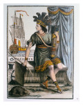 Allegory of America, Frontispiece of &#39;Encyclopedie Des Voyages&#39;, Engraved by J. Laroque Giclee Print by Jacques Grasset de Saint-Sauveur