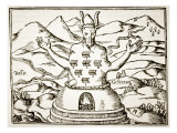 Moloch, Copy of an Illustration from &#39;Oedipus Aegyptiacus&#39; by Athanasius Kirchner, Rome 1652 Giclee Print by Italian School 