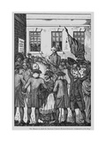 The Manner in Which the American Colonists Declared Themselves Independent of the King, 1776 Giclee Print by  American School