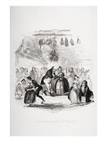 Christmas Eve at Mr. Wardle's, Illustration from `The Pickwick Papers' by Charles Dickens Giclee Print by Hablot Knight Browne
