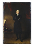 Portrait of George Canning, Full Length, Wearing a Black Coat in an Interior with His Arms Folded Giclee Print by Thomas Lawrence