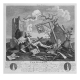 Bathos, Manner of Sinking, in Sublime Paintings Inscribed to the Dealers in Dark Pictures, 1764 Giclee Print by William Hogarth